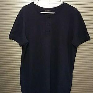 Vince Men's Black Henley Shirt- L